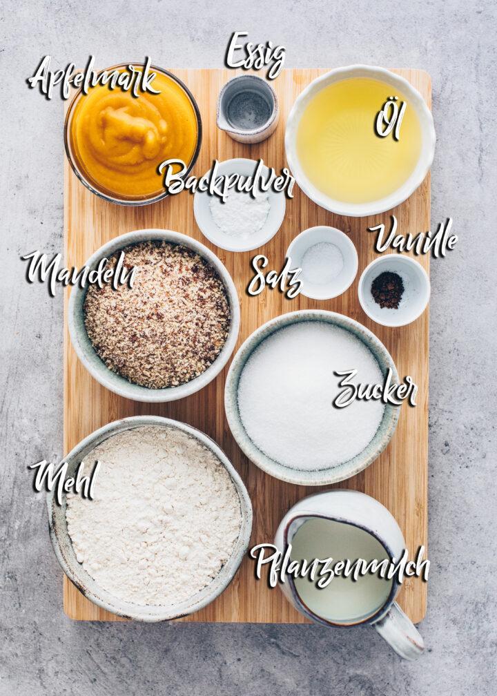 Zutaten für Mandel-Kuchen