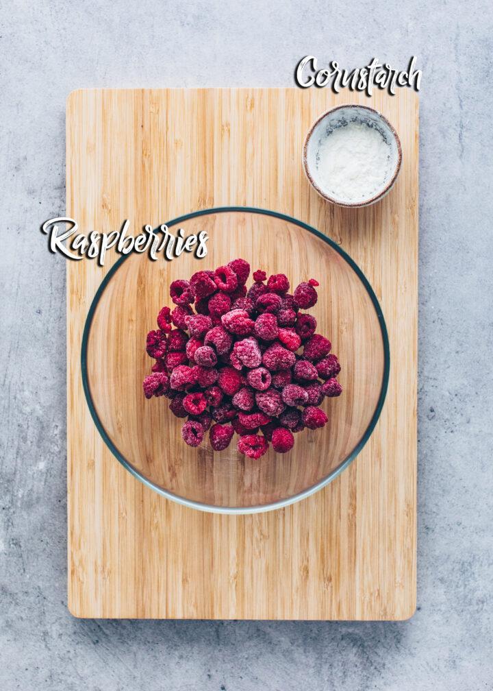 Raspberries and cornstarch