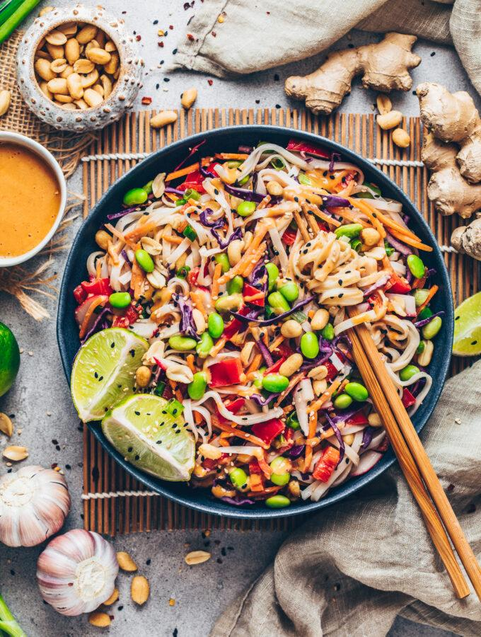 Thai Crunch Noodle Salad with Peanut Sauce