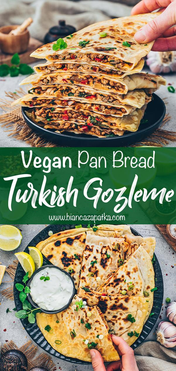 Turkish Gozleme (stuffed flatbread, pan bread)