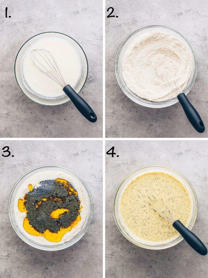 Zitronen-Mohn-Kuchen Teig machen (Schritt-für-Schritt Anleitung)