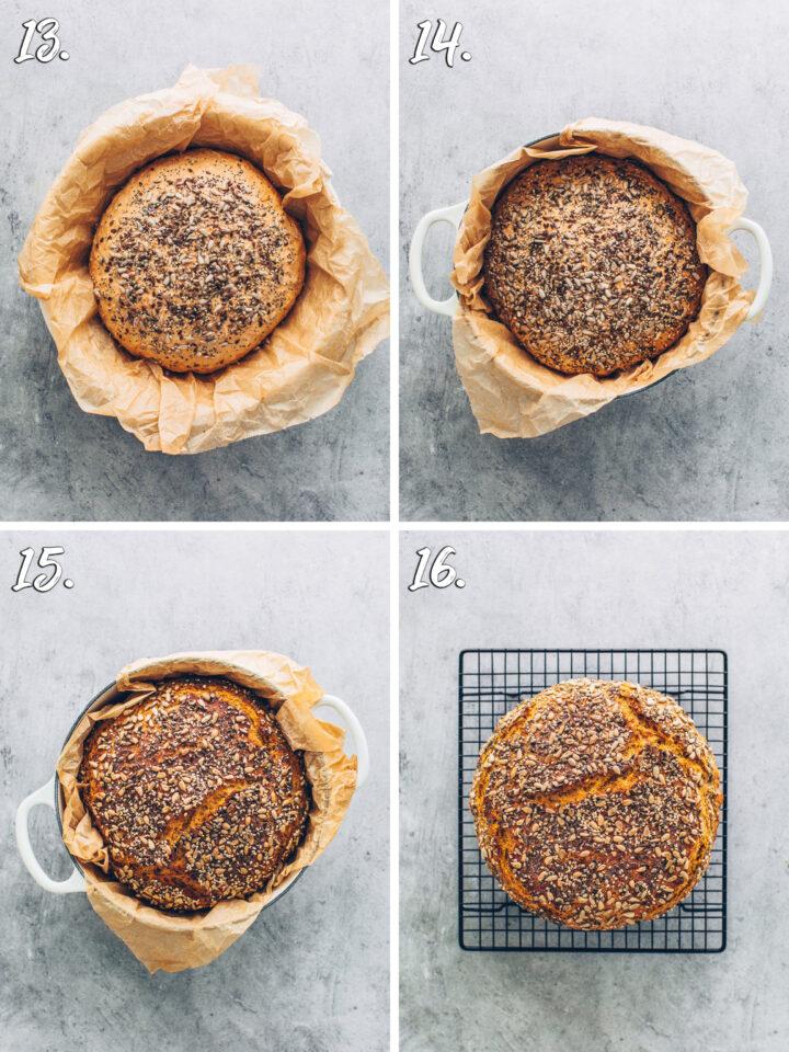 Brot mit Saaten und Kernen im Topf backen