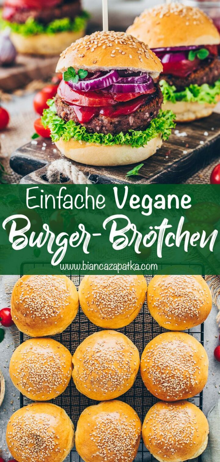 Vegane Burger Brötchen (Hamburger, Big Mac)