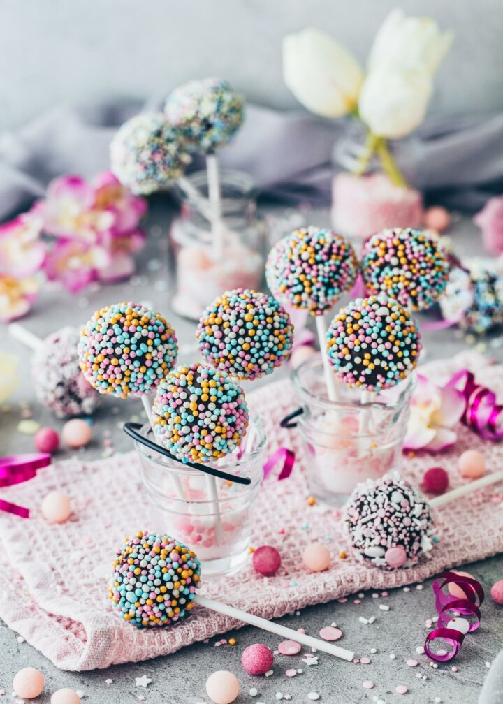 Colorful Cake Pops (Food Photography)