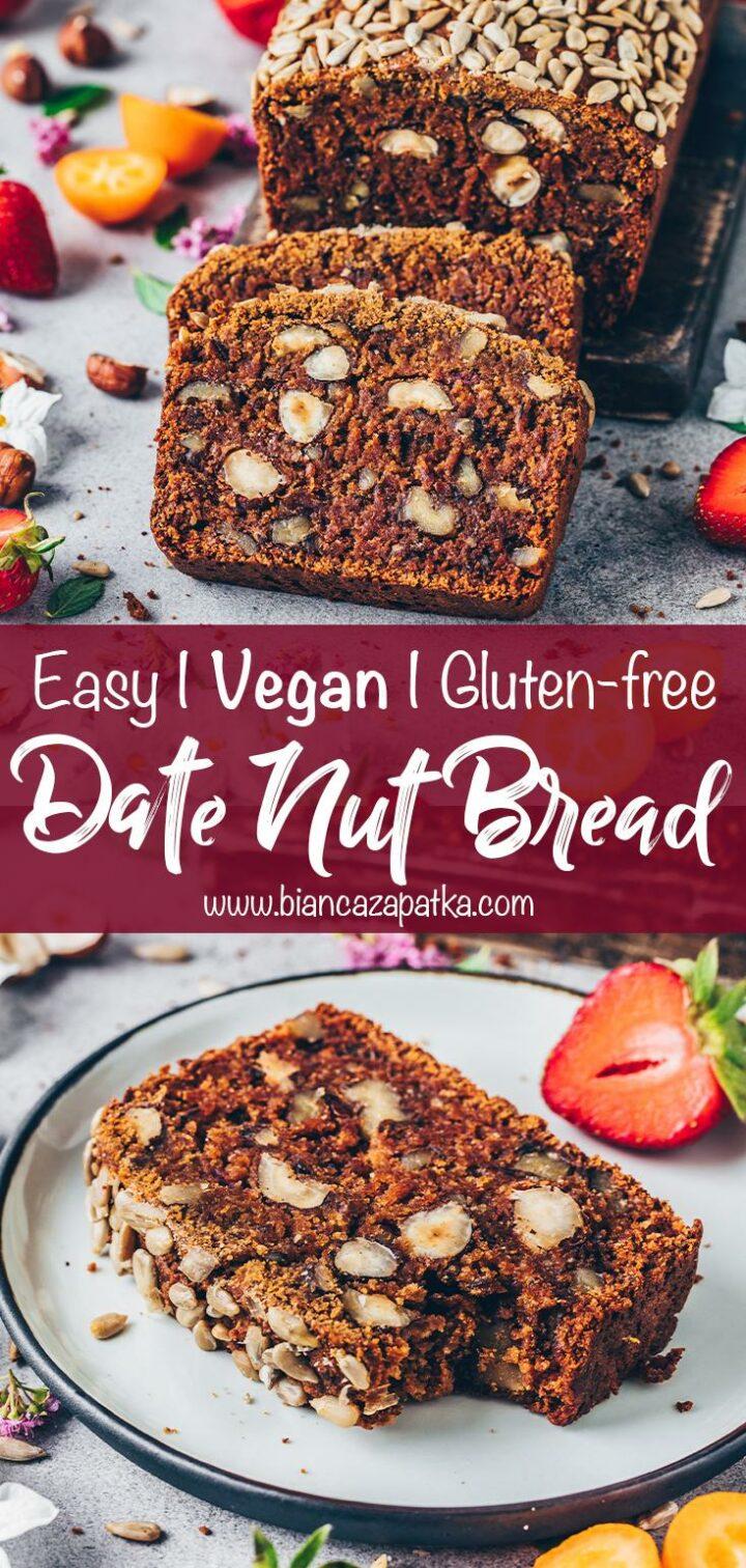 Date Nut Bread (Gluten-free Vegan Carrot Loaf)