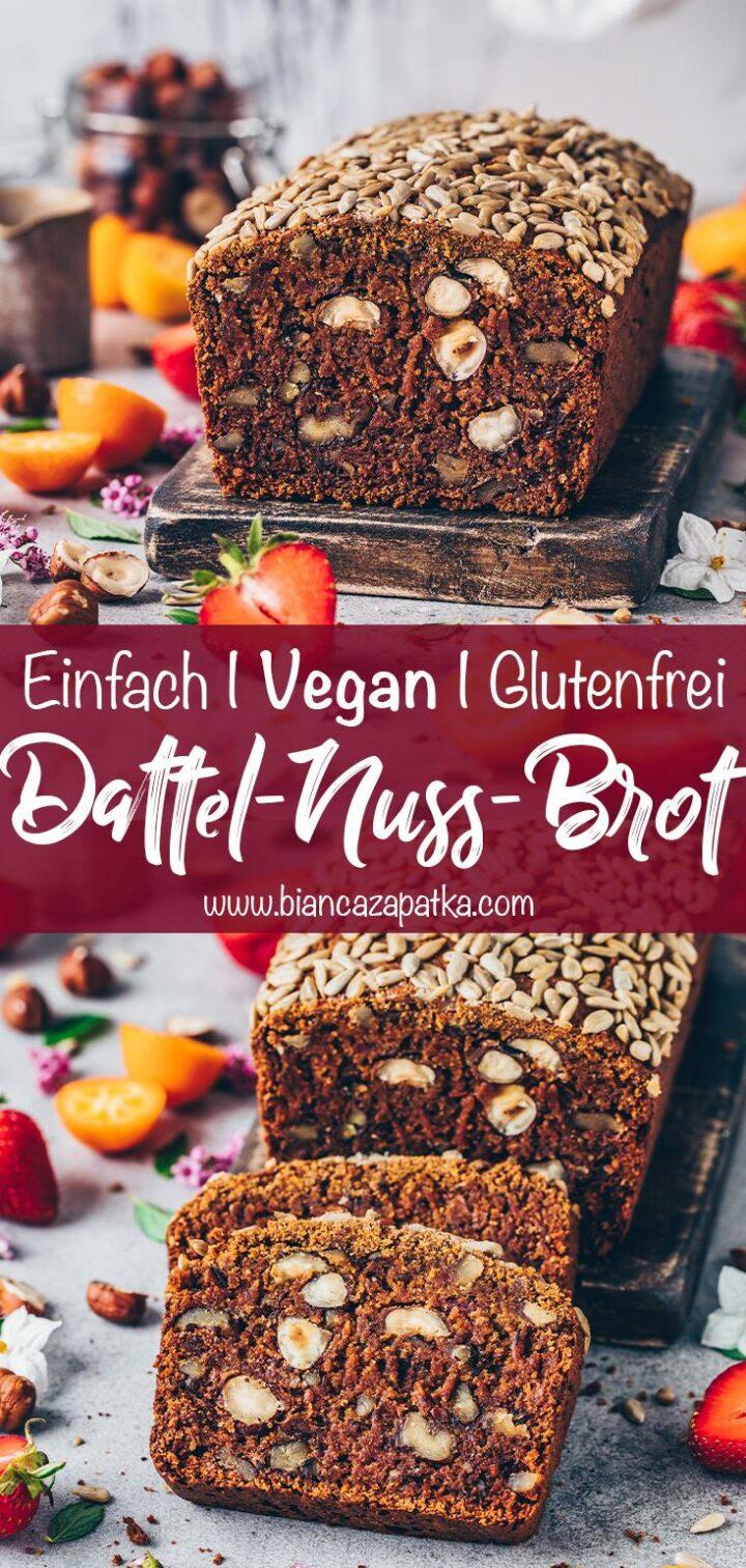 Dattel-Nuss-Brot mit Karotten (Vegan, Glutenfrei)