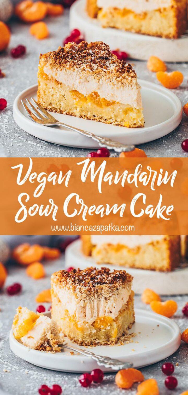 Mandarin Coconut Sour Cream Cheesecake