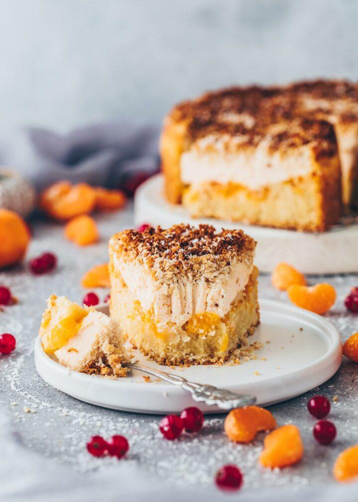 German Mandarin Cheesecake with Coconut