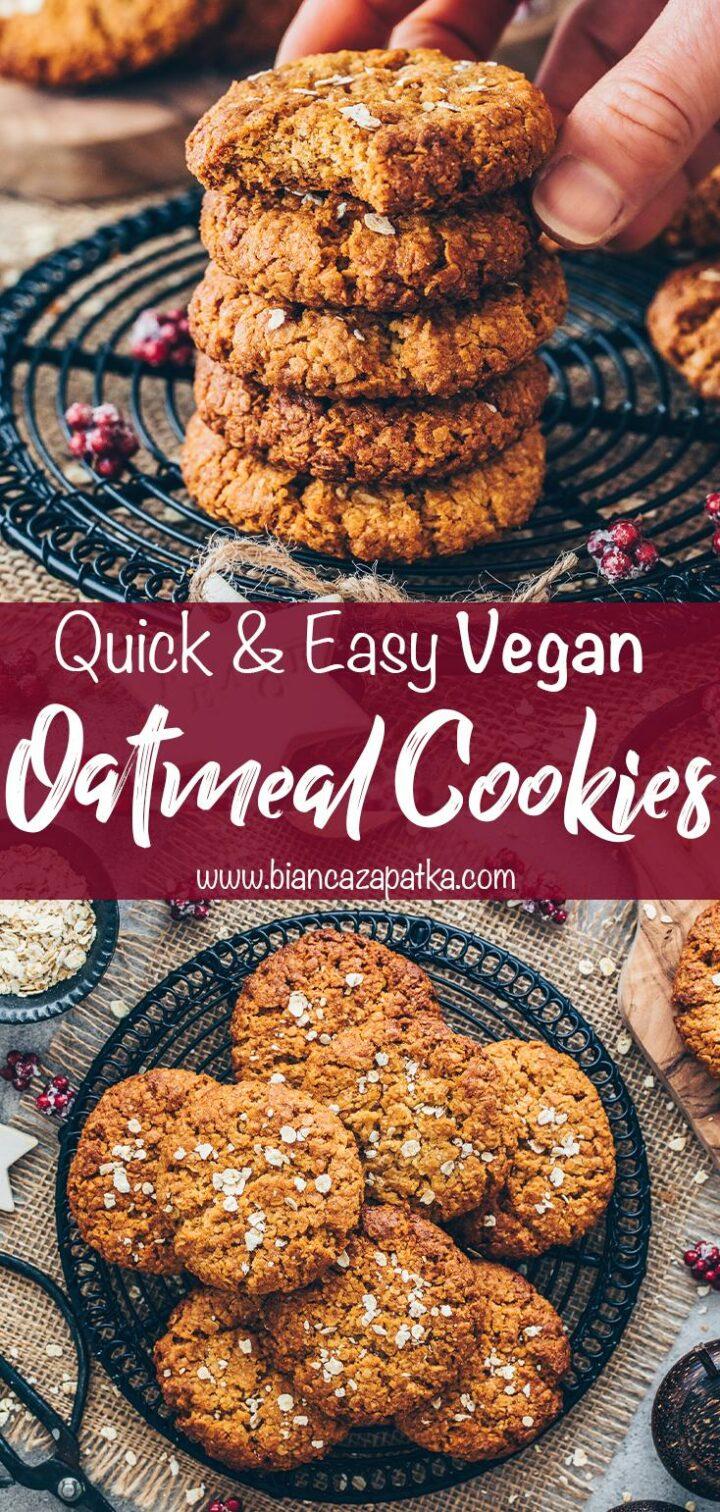 Oatmeal Cookies (Healthy Vegan Swedish Oat Cookie)