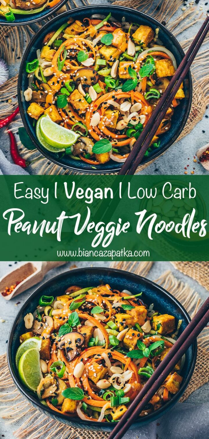Veggie Noodles with Peanut Sauce