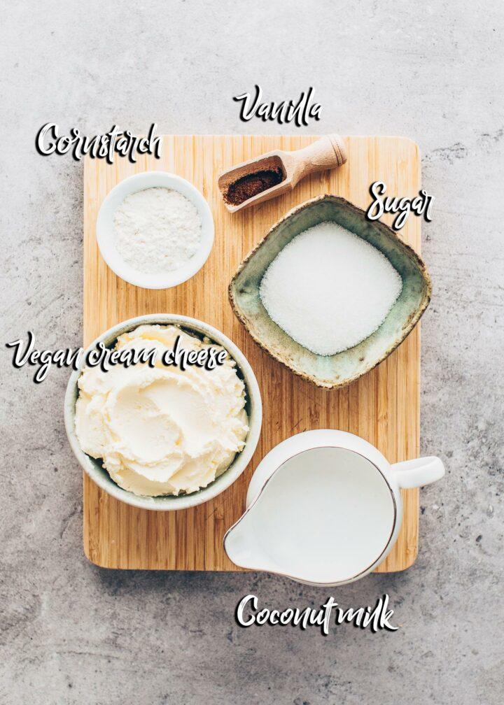 baked vegan cheesecake ingredients