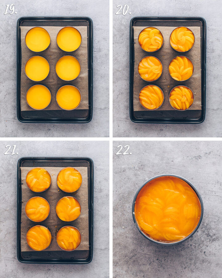 how to make apricot cakes in dessert rings