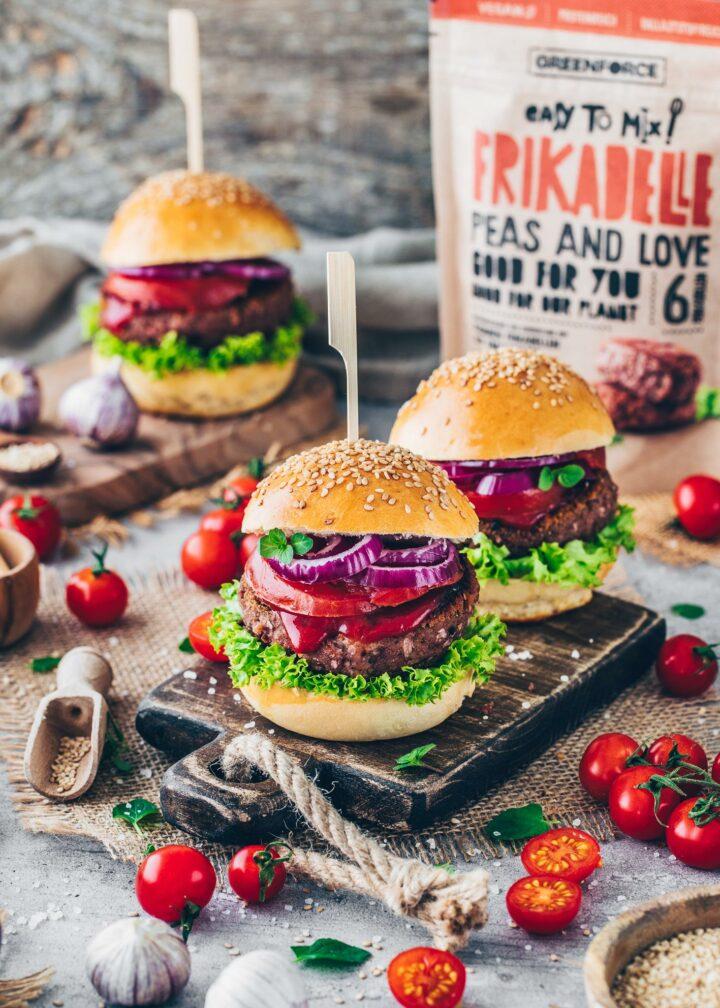 Vegane Frikadellen Burger