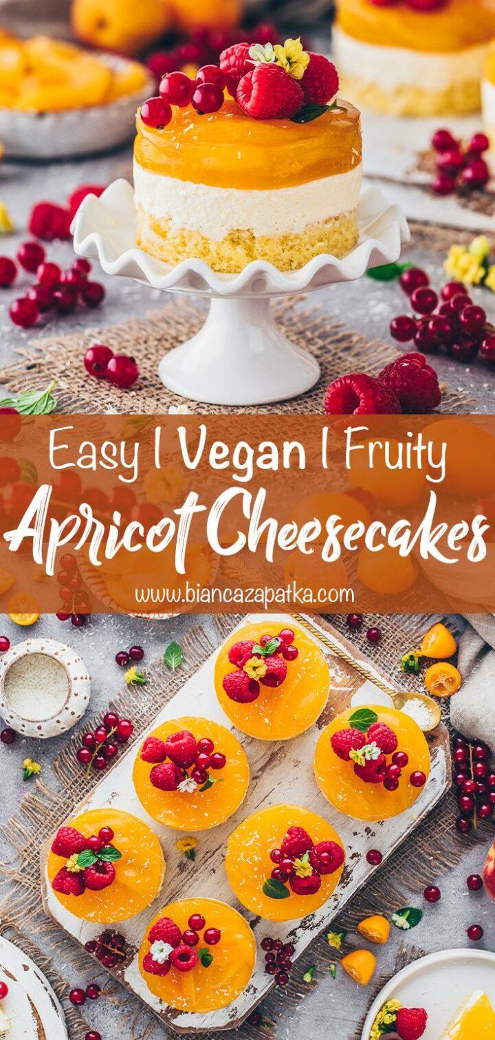 Apricot Cakes   Vegan No-Bake Cheesecake Dessert