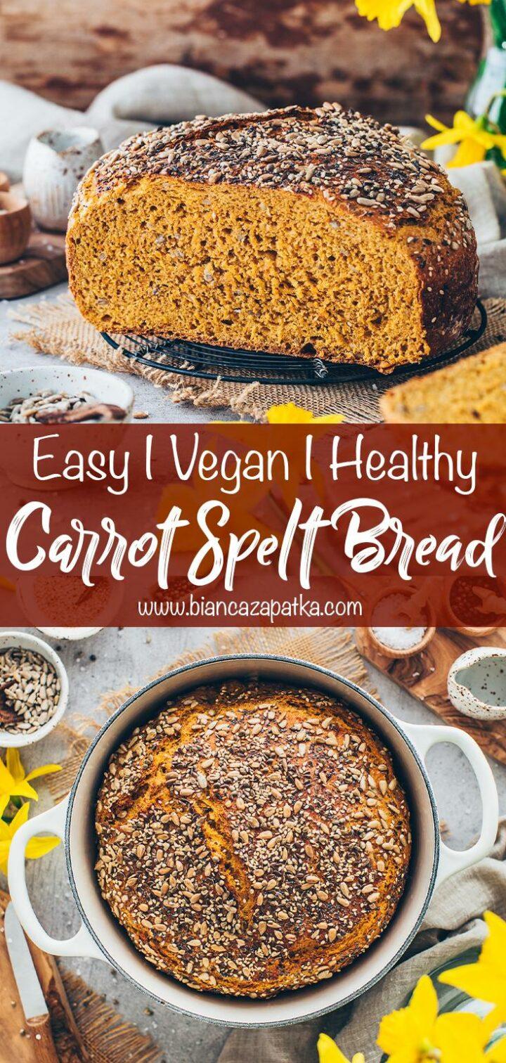 Multigrain Spelt Bread with Carrots (healthy homemade bread)
