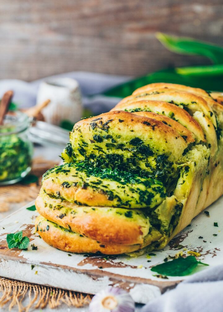 Vegan Pull Apart Bread with Garlic Herb Butter
