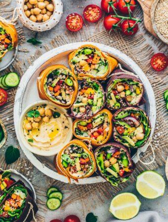 Vegetable Wraps (Veggie Tortillas)