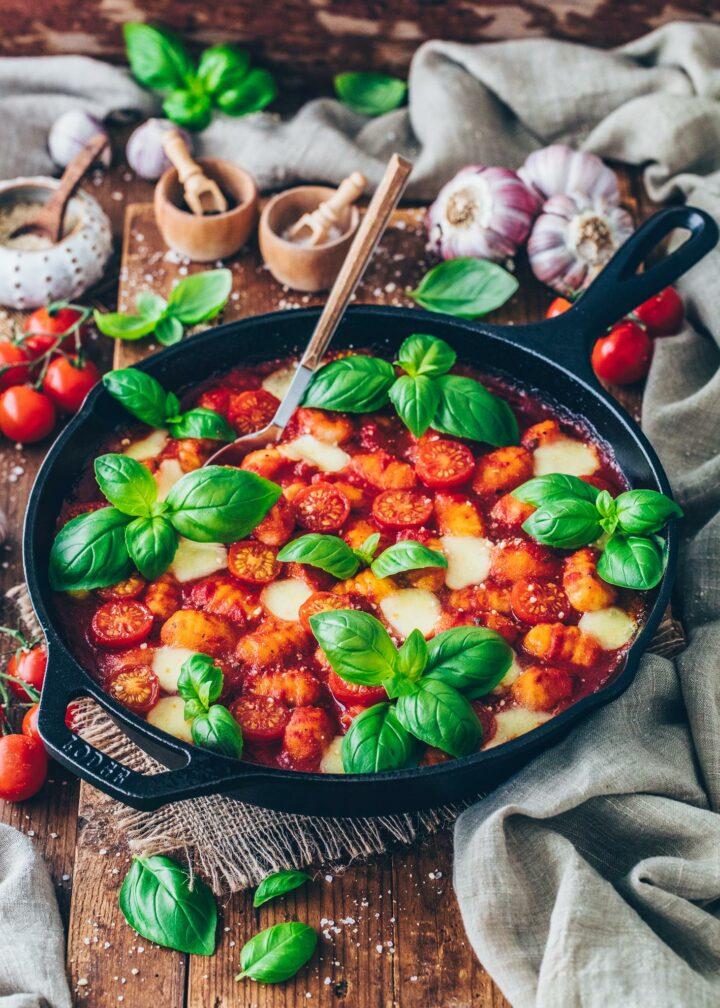 Gnocchi Casserole with Tomato and Vegan Mozzarella