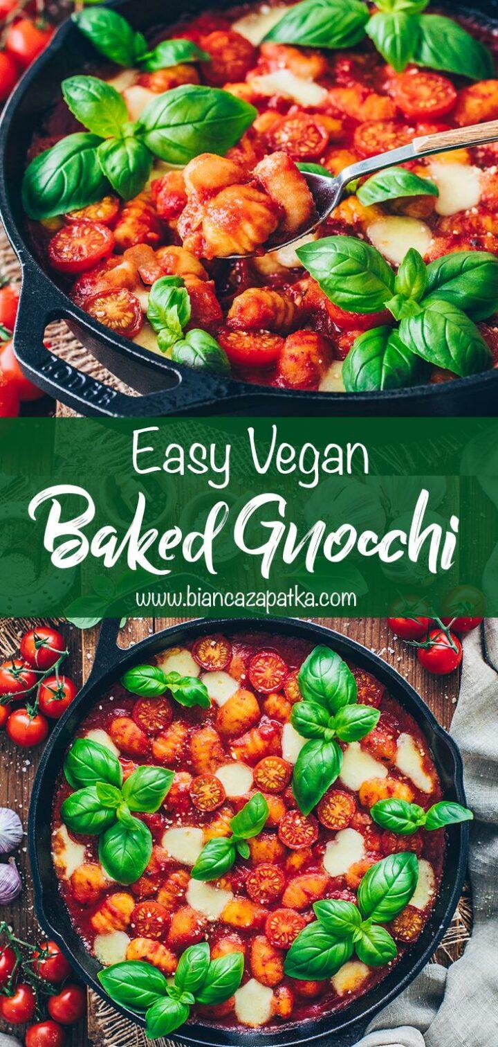 Gnocchi Bake with tomato sauce and mozzarella
