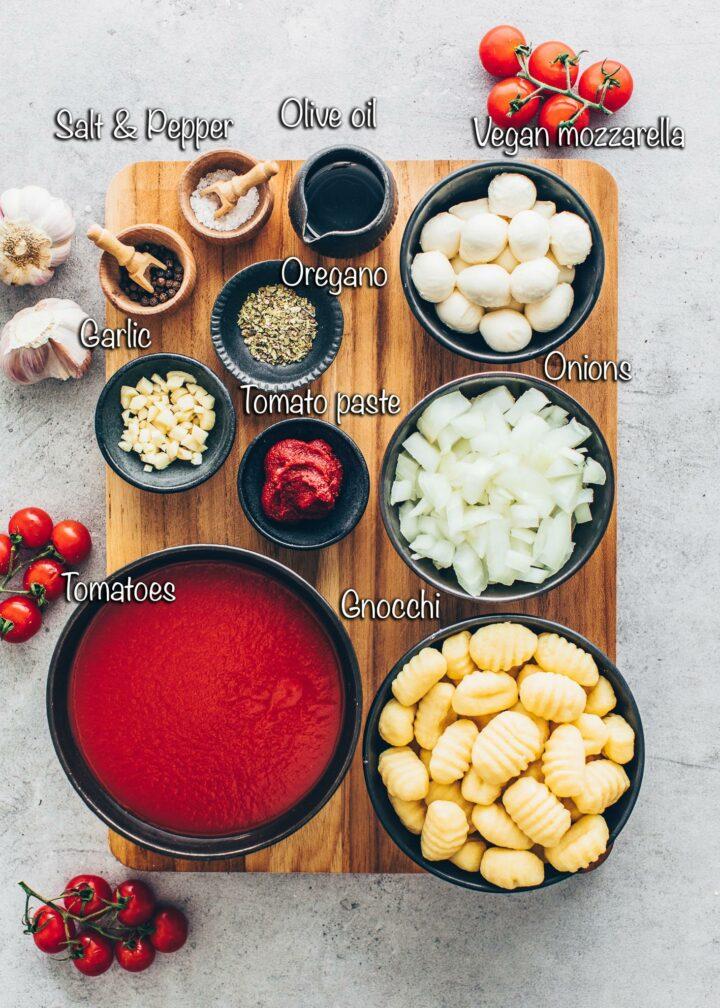Ingredients for Gnocchi Bake Casserole