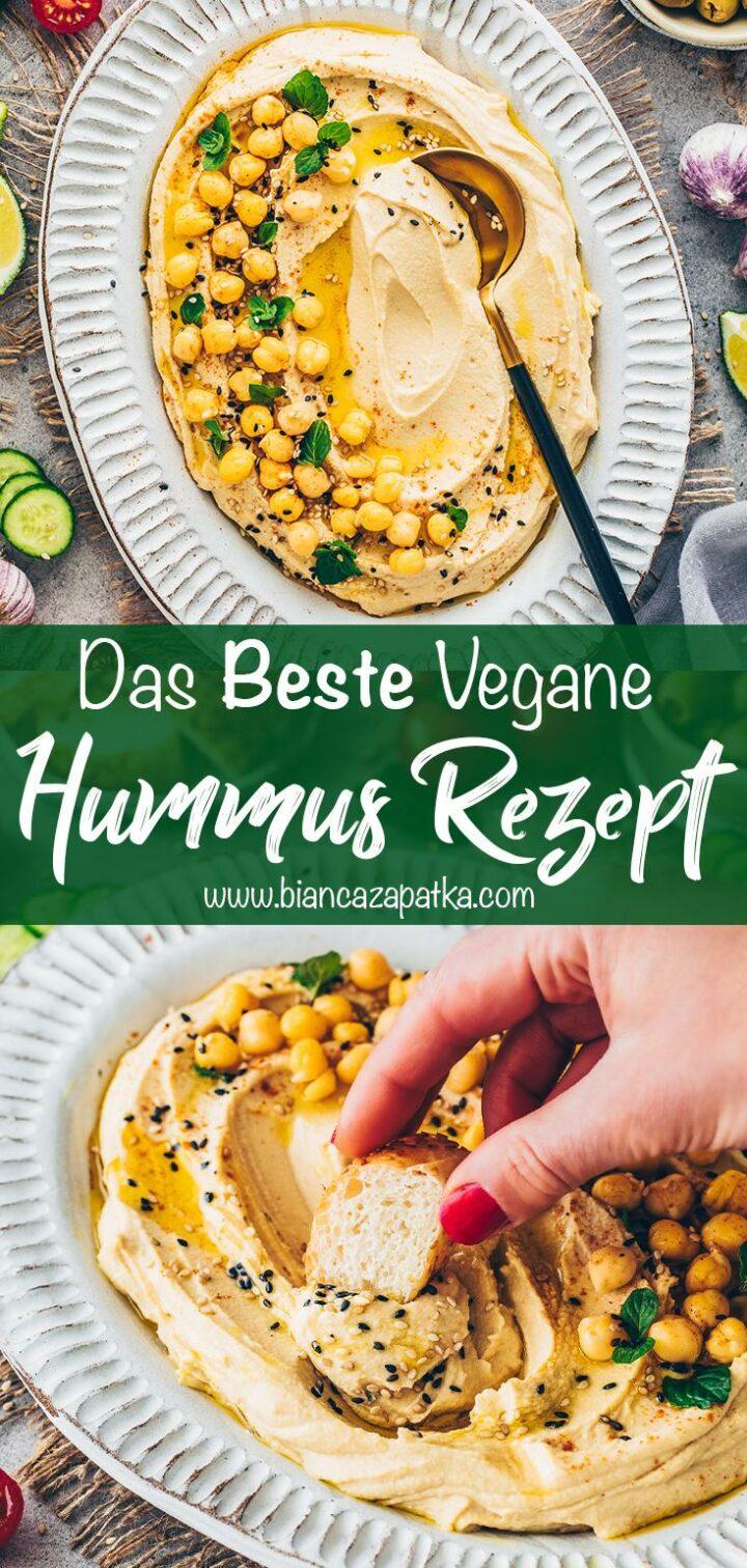 Hummus selber machen (Der Beste Kichererbsen-Dip: cremig, einfach, lecker)