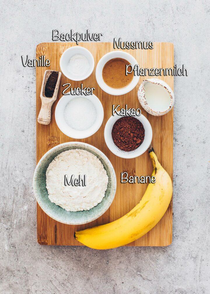 Zutaten für veganer Tassenkuchen