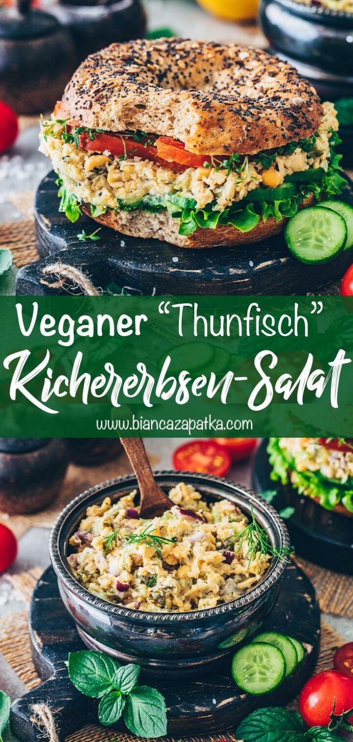 Veganer Thunfisch Kichererbsen-Salat