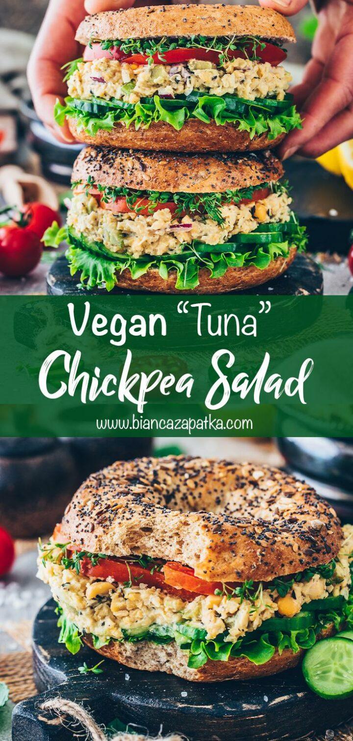 Vegan Tuna Chickpea Salad Sandwich