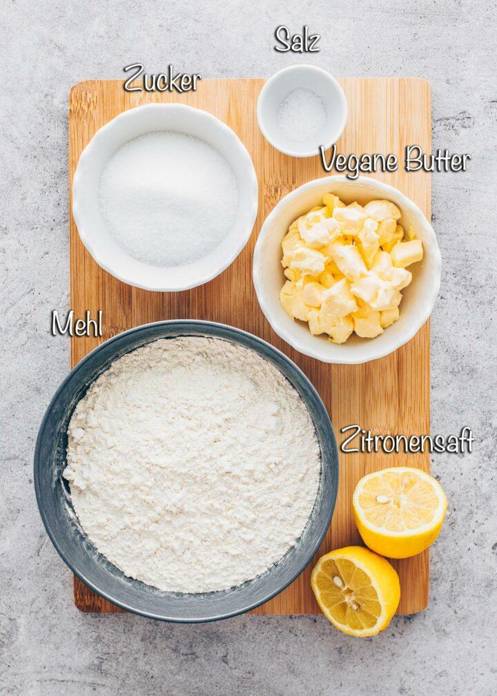 Zutaten für Zitronenschnitten