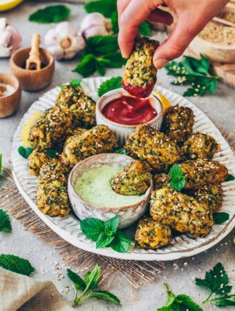 Vegane Brokkoli-Käse-Nuggets