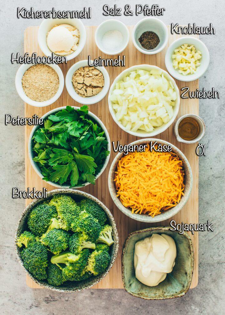 Zutaten für Brokkoli-Käse-Nuggets
