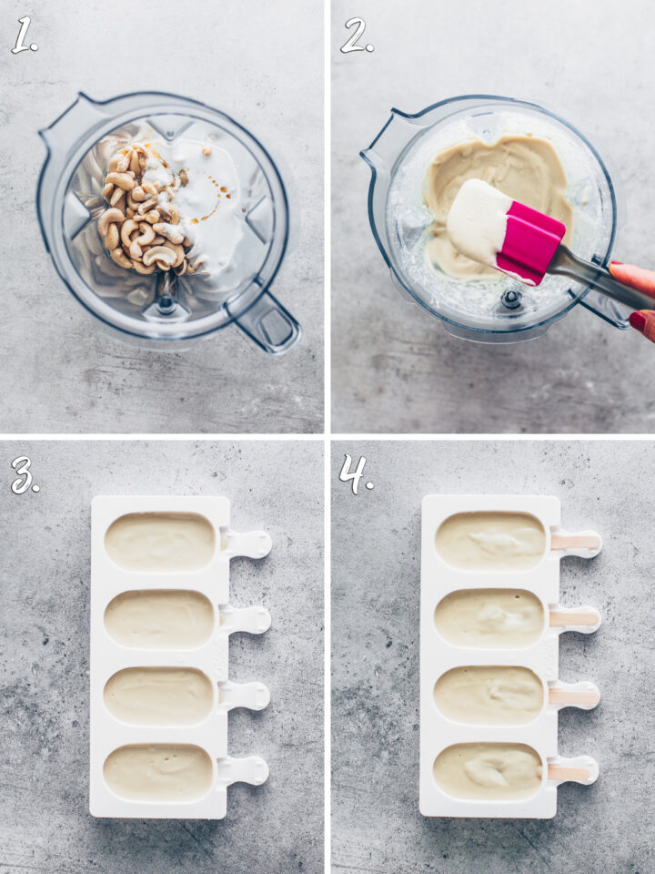 how to make cashew coconut ice cream