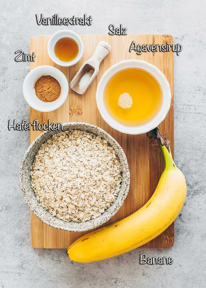 Zutaten für Granola Vegan