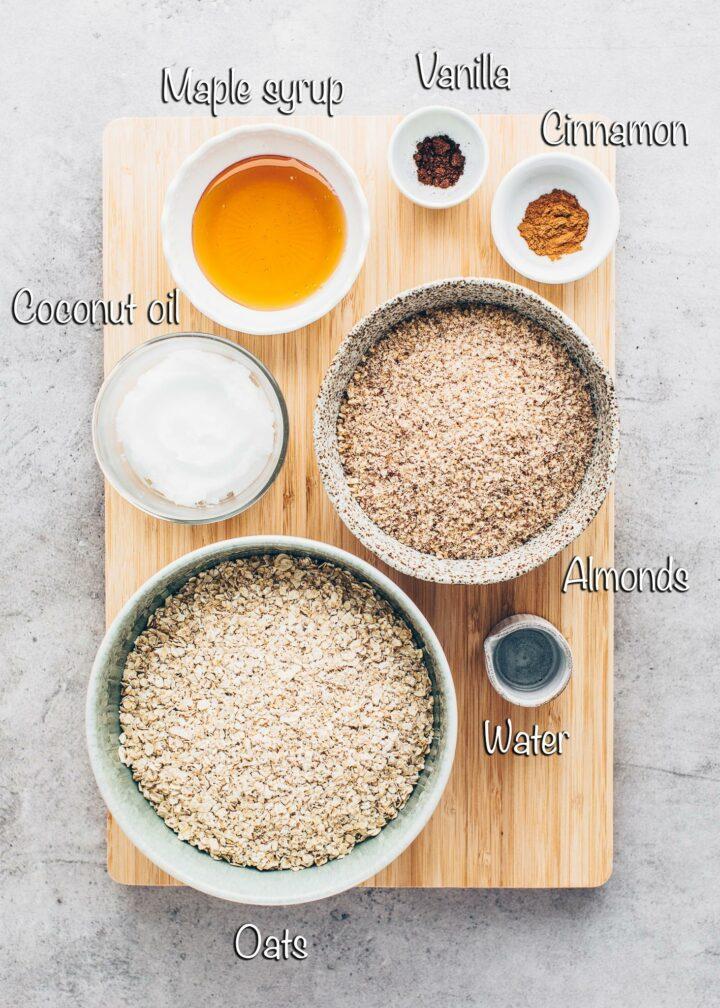 Ingredients for Granola Crust