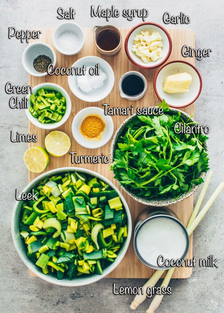 Ingredients für Green Curry