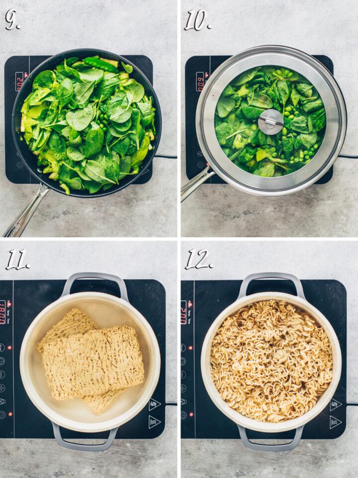 Grünes Curry mit Ramen Nudeln Rezept