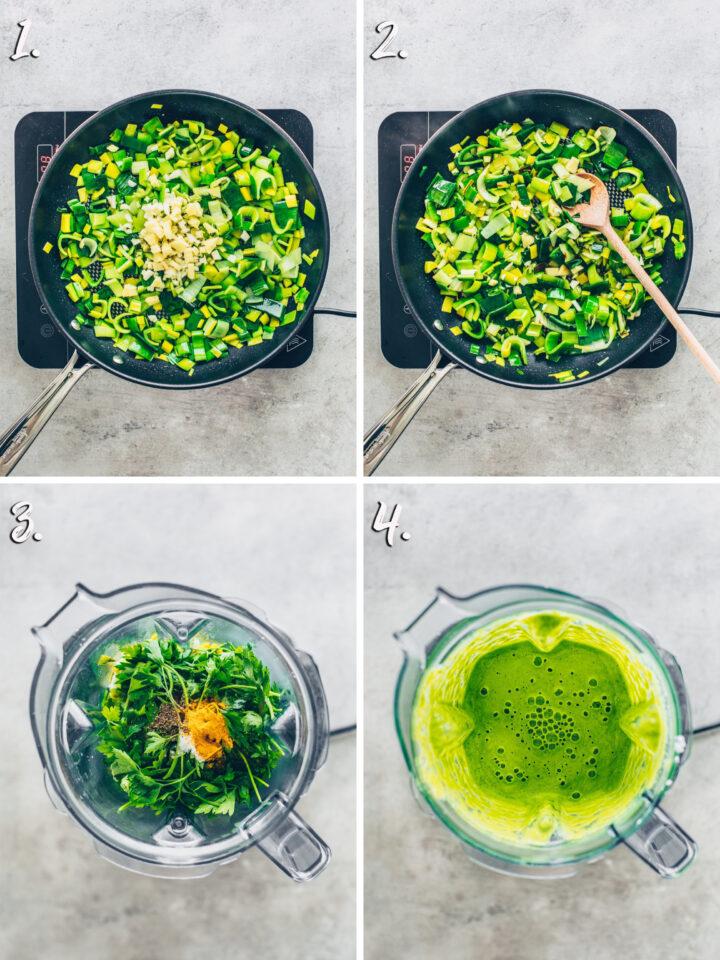 Grüne Curry Soße selber machen