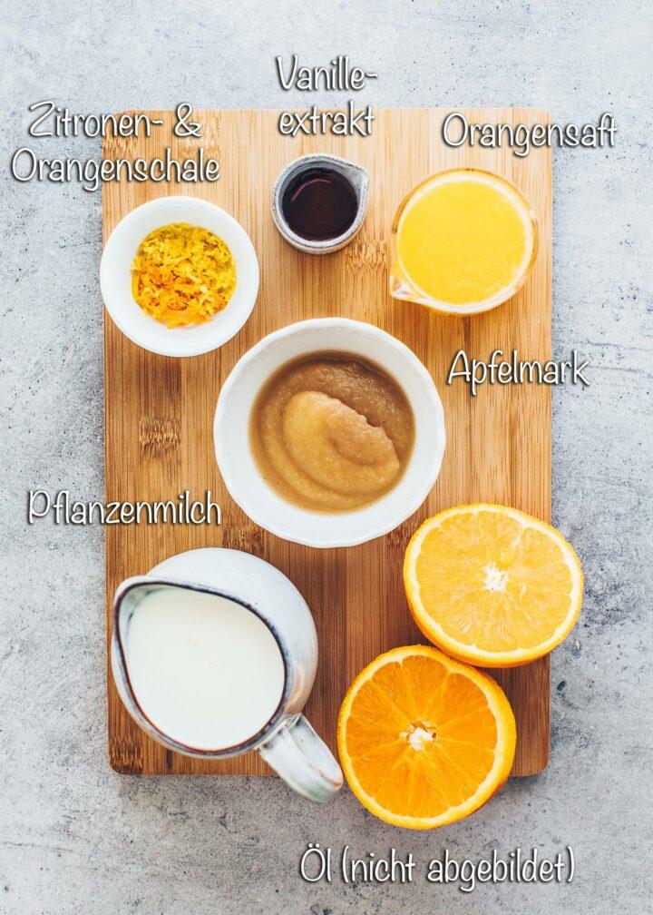 Zutaten für veganen Kuchen