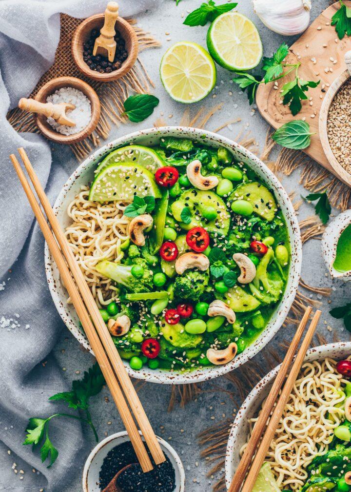 Grünes Thai Curry mit Gemüse (Vegan)
