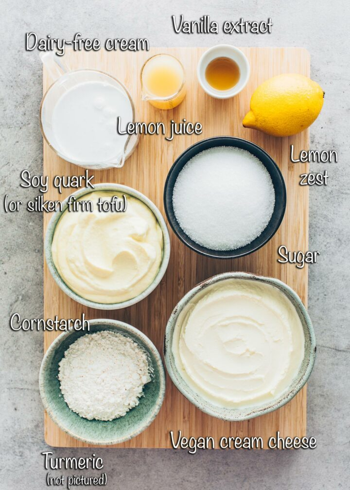 Ingredients for Vegan Cheesecake