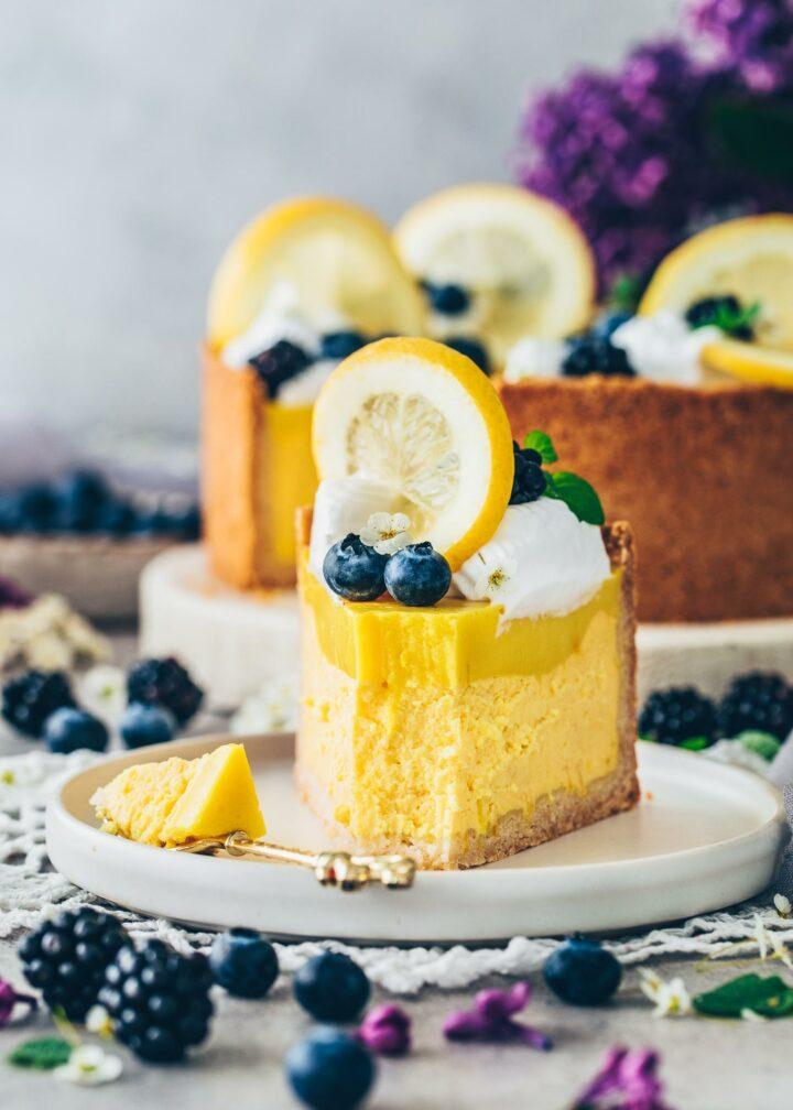 Veganer Zitronen-Käsekuchen