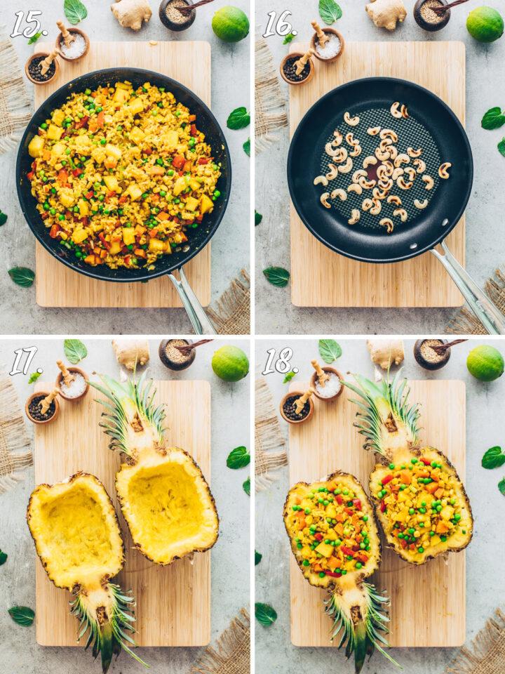 Gebratener Reis in Ananas Rezept