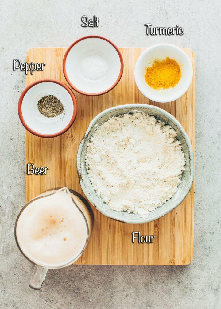 Ingredients for Beer Batter