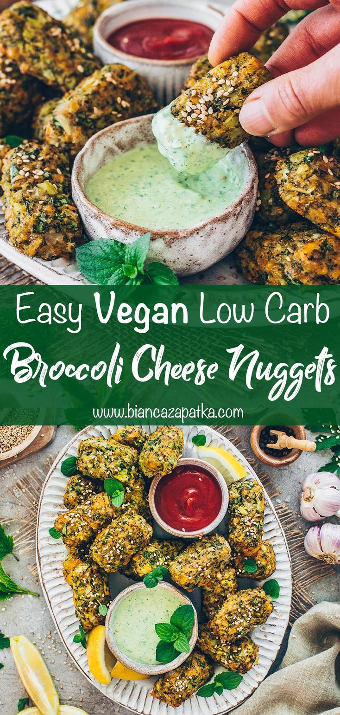 Broccoli Cheese Nuggets (easy, vegan, low-carb, healthy)