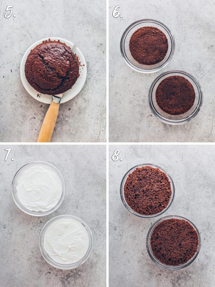 Kuchen-Bowl selber machen Anleitung