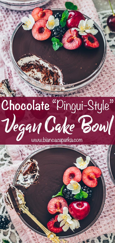 Chocolate Cake Bowl, Vegan Kinder Pingui Dessert