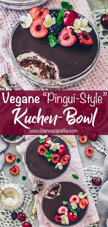 Kuchen-Bowl Kinder Pingui, Schoko-Creme-Dessert