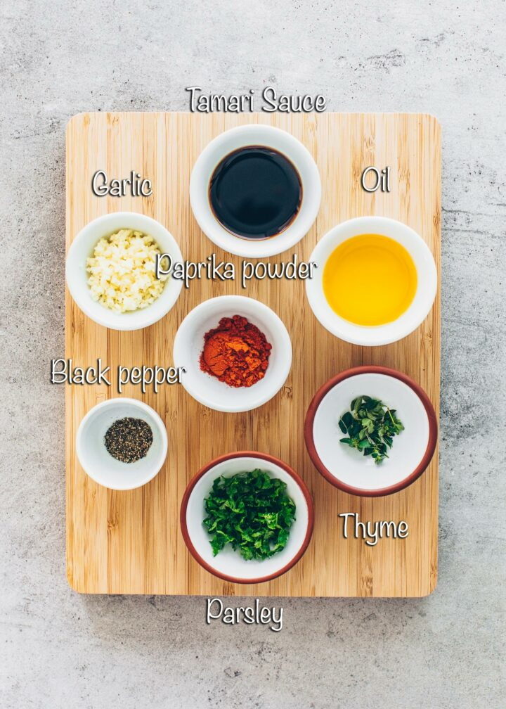 Mushroom marinade ingredients