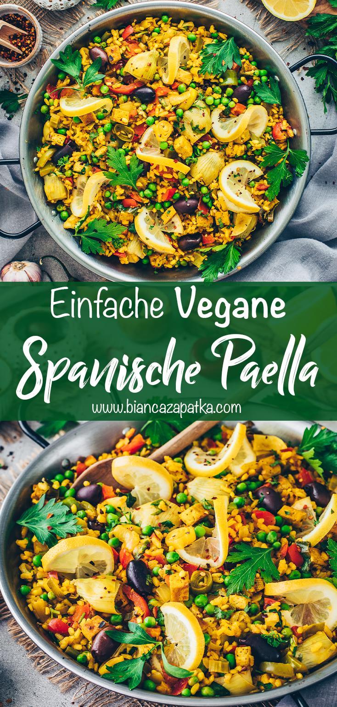 Paella mit Gemüse und Tofu (Spanische Reispfanne)