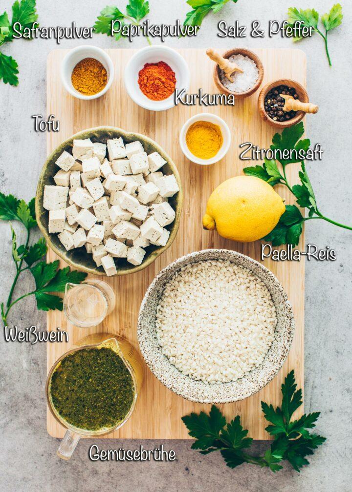 Paella mit Tofu Zutaten